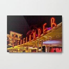 Clevelander Hotel South Beach Miami Portrait Metal Print