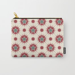 Retro Christmas Stars Carry-All Pouch