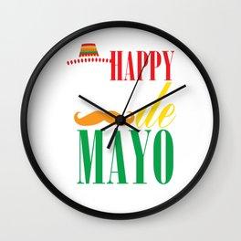 Happy Cinco De Mayo Funny Celebration Shirt Wall Clock