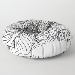 Diving to the depths Floor Pillow