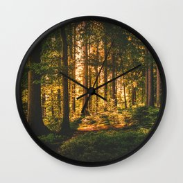 Mixed Forest Wall Clock