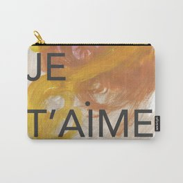 oui, je t'aime. Beautiful abstract art mixing typography in french, to express love and charm. Carry-All Pouch