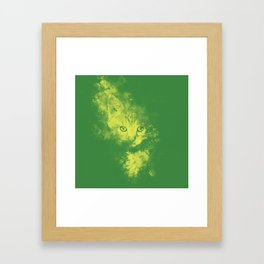 abstract young cat wsgy Framed Art Print