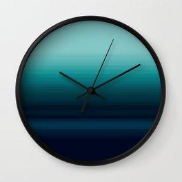 Teal to Indigo Ombre Design Wall Clock