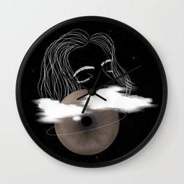 Eyes shut Wall Clock