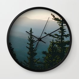 Silhouetted Mountains Wall Clock