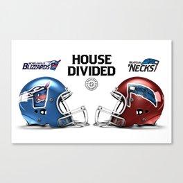 Blizzards / 'Necks House Divided Canvas Print