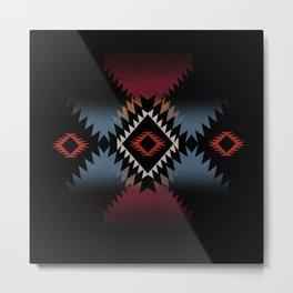 aztec in black number 5 Metal Print