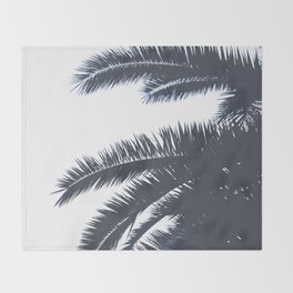 Palm Tree leaves abstract III Throw Blanket