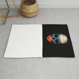 Dark Skull with Flag of Russia Rug