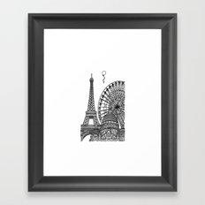 Paris Silhouettes Framed Art Print