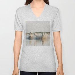 runaway horses ... Unisex V-Neck