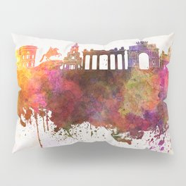 Saint Petersburg skyline in watercolor background Pillow Sham
