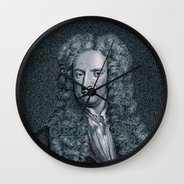 Gravity / Vintage portrait of Sir Isaac Newton Wall Clock