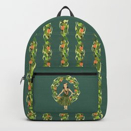 Hula Pineapple Wreath Backpack