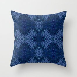 Oxford Blue Motif Throw Pillow