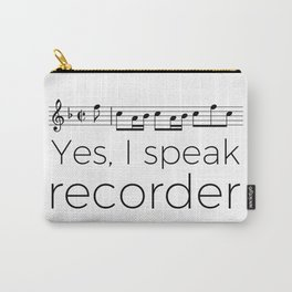 Do you speak recorder? Carry-All Pouch