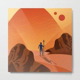 The Desert Guide Metal Print