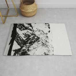 Minimalist Mountains Rug