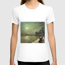 Reflections on the Thames River, London by John Atkinson Grimshaw T-shirt