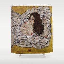 "Egon Schiele ""Reclining Woman"" Shower Curtain"