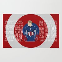 avenger Area & Throw Rugs featuring The First Avenger by MacGuffin Designs