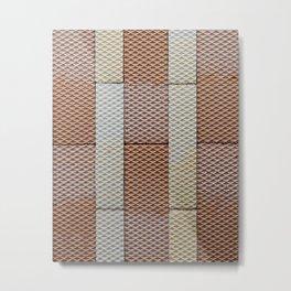 Wafer Wallpaper Metal Print