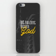 Big Building Bigger GOD iPhone & iPod Skin