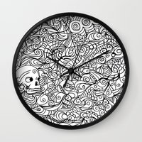 moriarty Wall Clocks featuring MEMENTO MORIARTY by Allison Kolarik