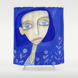 Blue Shower Curtain