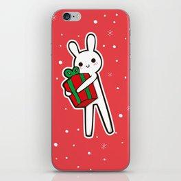 xmas bunny iPhone Skin