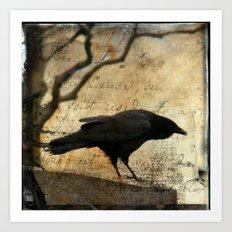 Crow Caws Art Print