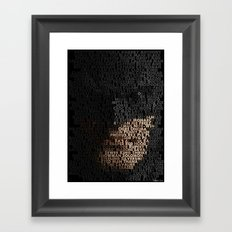 You Are Who You Beat. Framed Art Print