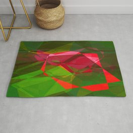 Pink Roses in Anzures 3 Abstract Polygons 2 Rug