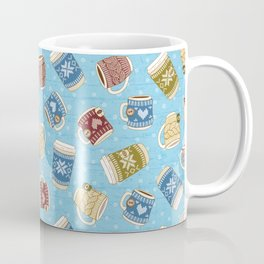 Cozy Mugs - Bg Blue Wood Coffee Mug