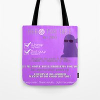 kate bishop Tote Bags featuring Hero for Hire- Kate Bishop by Hawkingjay