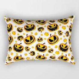 Festive Halloween Pumpkin Rectangular Pillow