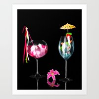 cocktail Art Prints featuring Cocktail by Simone Gatterwe