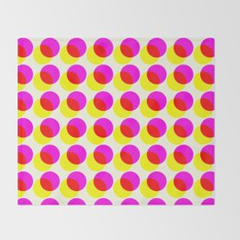 dots pop pattern 2 Throw Blanket