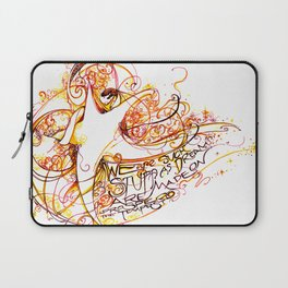 We Are Such Stuff as Dreams Are Made On - Shakespeare Quote Print Laptop Sleeve