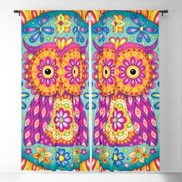 Owl Mandala Blackout Curtain
