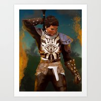 dragon age inquisition Art Prints featuring Cassandra Pentaghast, Dragon Age: Inquisition by Paiveus