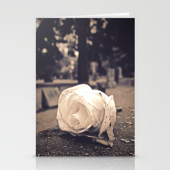Graveyard rose Stationery Cards