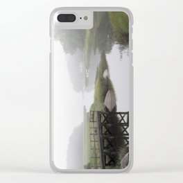 Fggy little river Clear iPhone Case