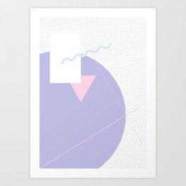 Geometric Calendar - Day 1 Art Print