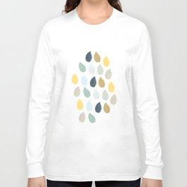 rain drops pattern Long Sleeve T-shirt