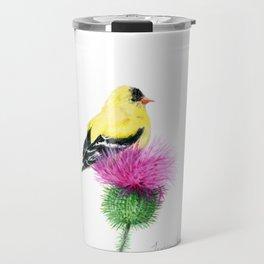Little Goldfinch by Teresa Thompson Travel Mug