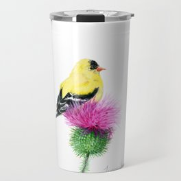 Little Goldfinch by Teresa Thompson Travel Mug