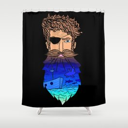 If This Beard Could Talk, Hair Series Shower Curtain