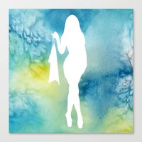sexy Canvas Prints featuring Sexy by Cs025